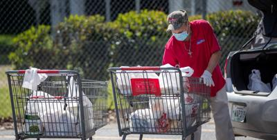 Coronavirus file photo stock of grocery shopping in Louisiana