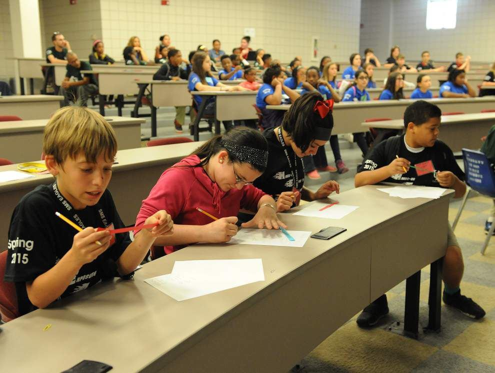 Photos: Middle school math tournament tunes up Acadiana students for college-level mathematics _lowres