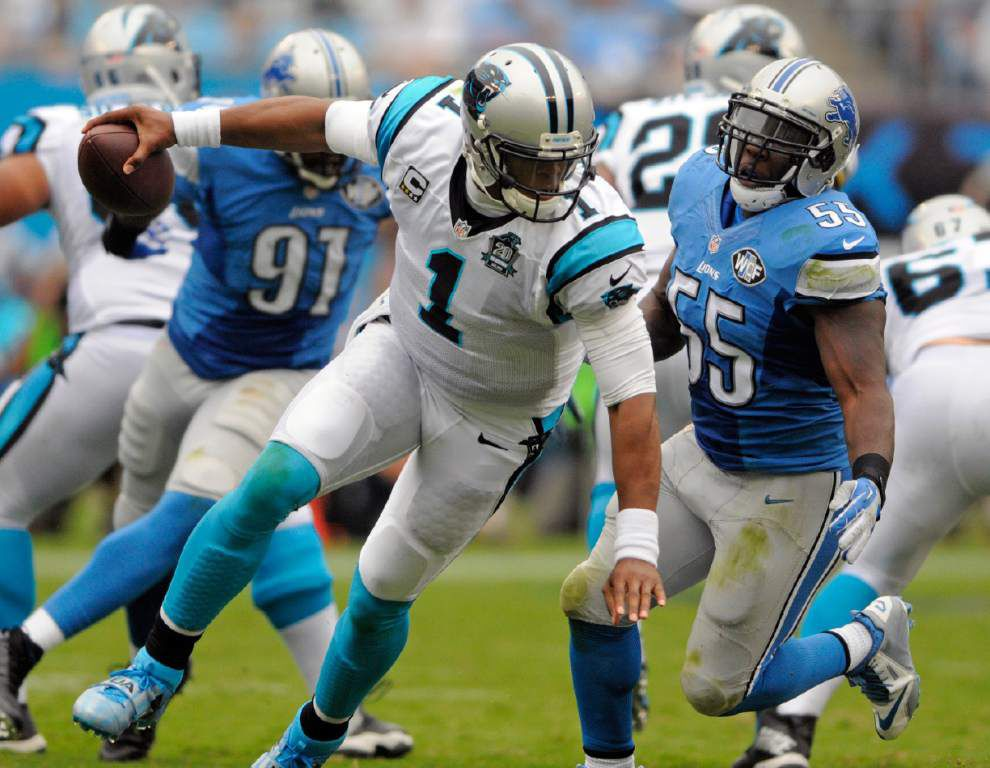 Fearless quarterback Cam Newton, defense lead Panthers over Lions _lowres