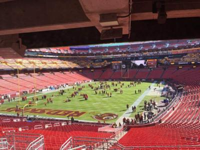 Welcome to FedEx Field for today's game between Saints and Redskins _lowres