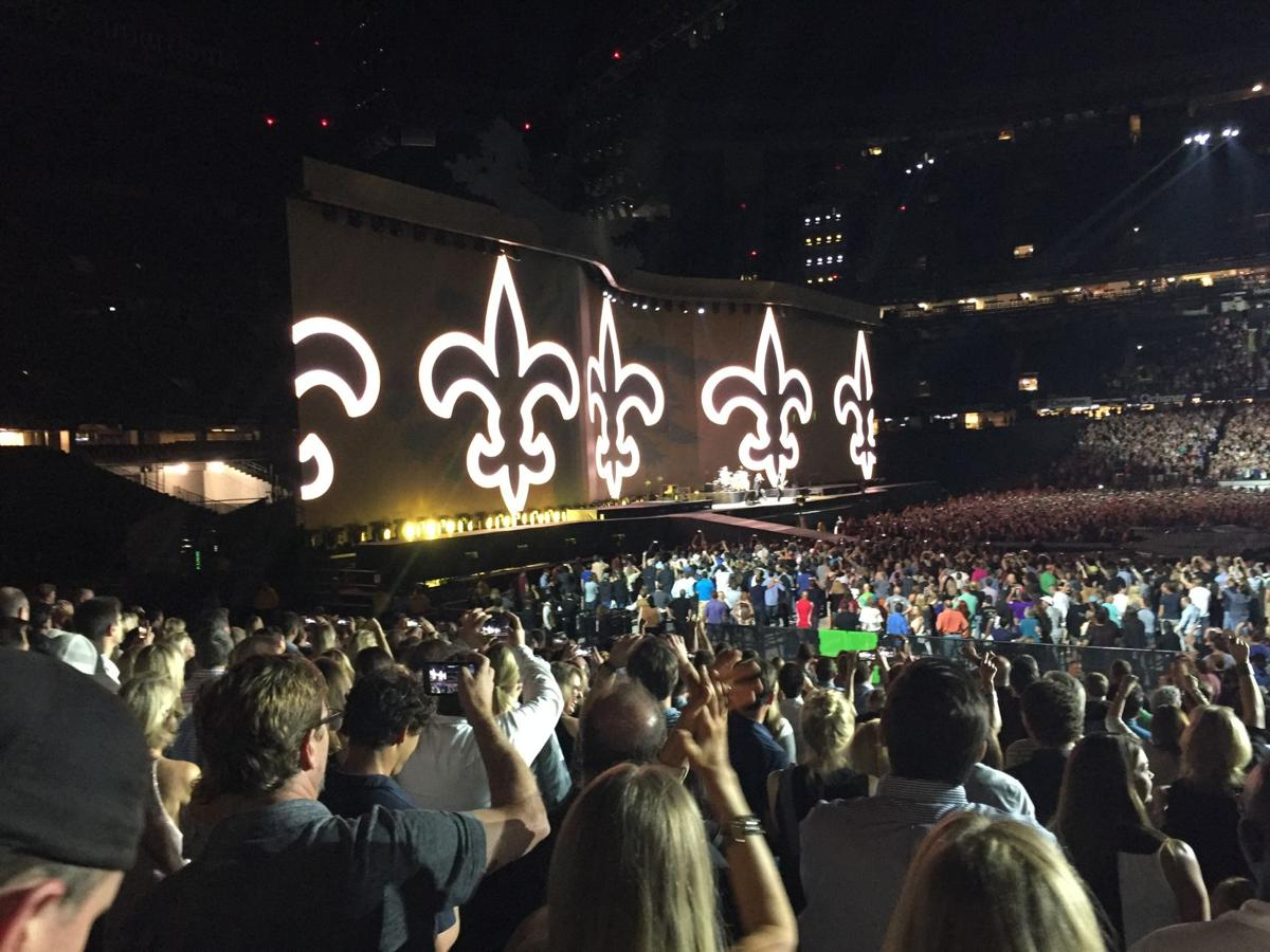 U2 superdome fleur de lis saints are coming