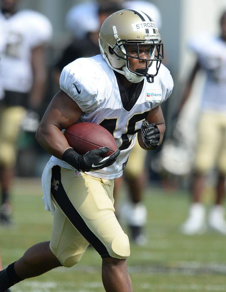 From Saints fan to player? That's the goal for WR Charles Hawkins and RB Derrick Strozier _lowres