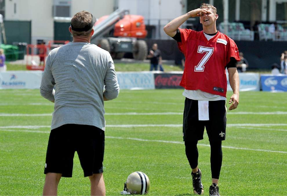 With Brees still out, backup QBs dominate Tuesday practice _lowres