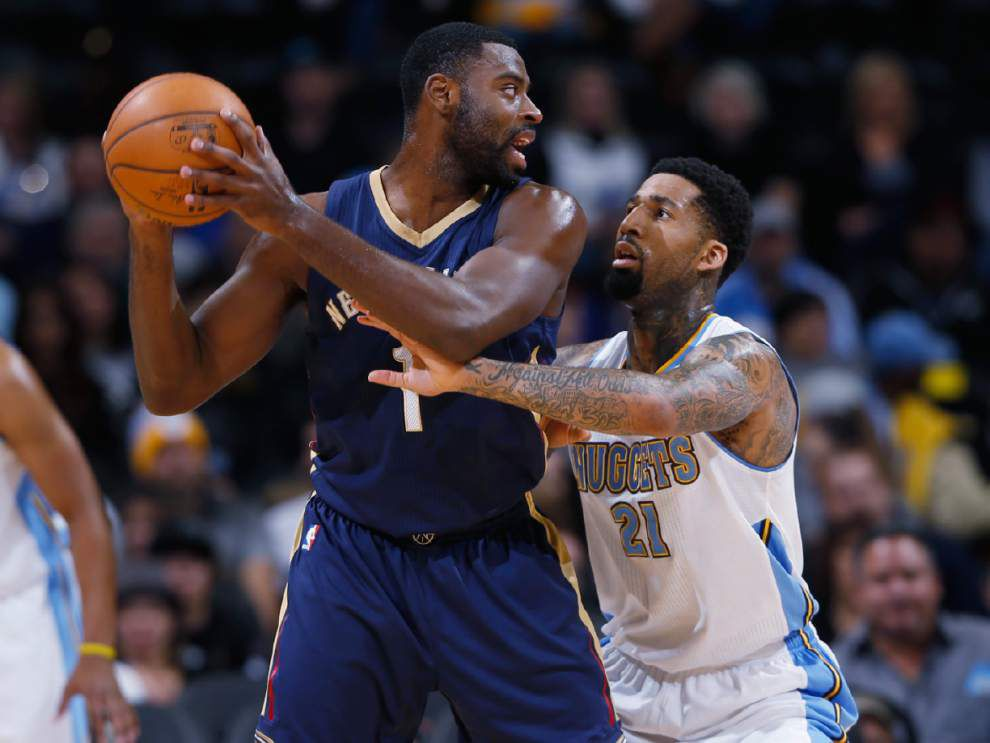 Pelicans winded by Nuggets offense in 117-97 loss _lowres