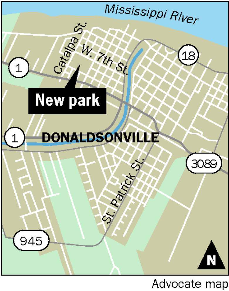 Triple slide, rock climbing wall, drums to be features of Donaldsonville's newest park _lowres