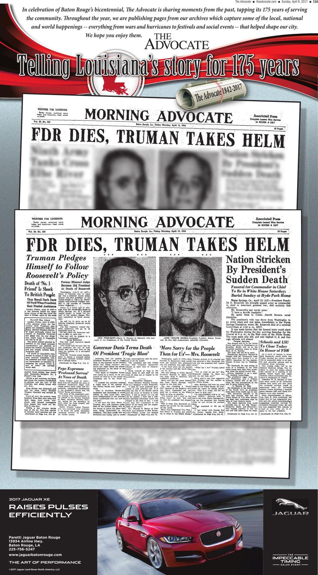 FDR Dies, Truman Takes Helm