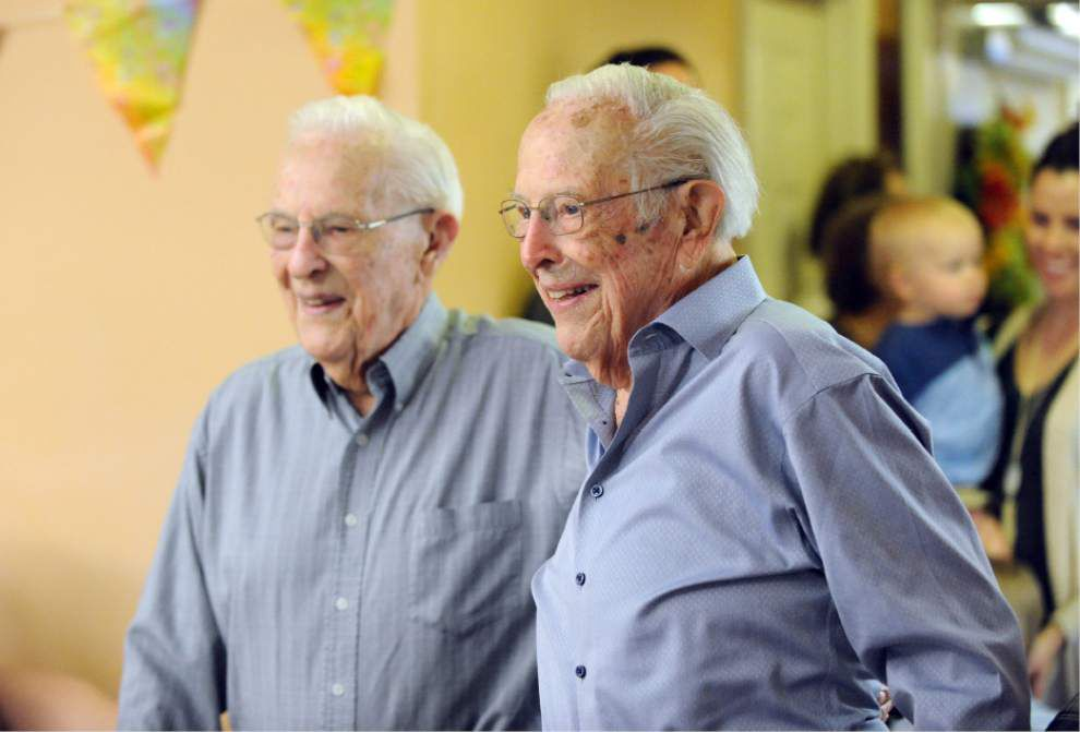 Photos, Video: Identical twins' secret to living to 100: 'Get up every morning,' 'Do the right thing' _lowres