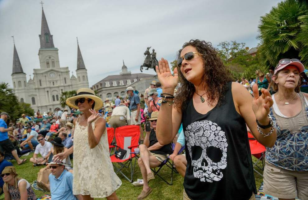 Large crowds, rockin' music and lots of dancing make the third day of French Quarter Festival the place to be _lowres