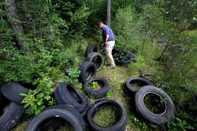 abandoned tires stock