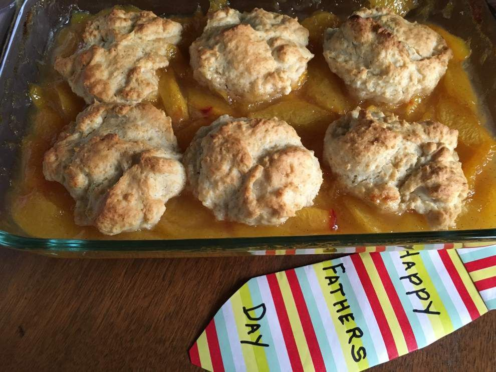 Gourmet Galley: Not your typical peach cobbler for Father's Day _lowres