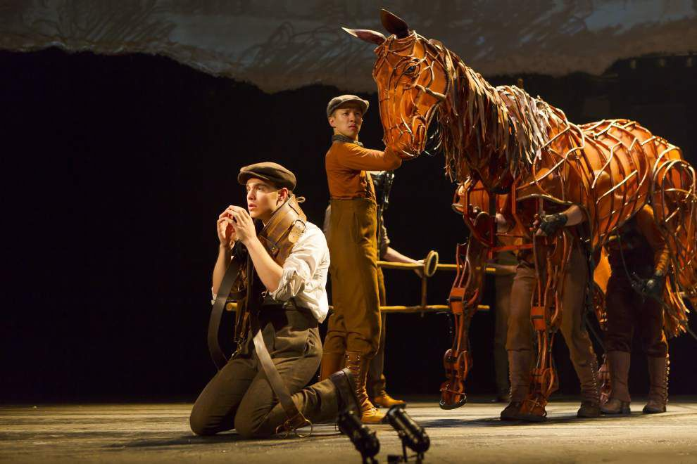 Actors play opposite life-sized equine puppet at heart of 'War Horse' at Saenger in New Orleans _lowres