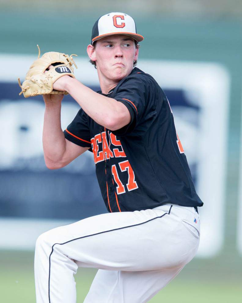 Catholic's Brian Fairbanks holds Denham Springs hitless in 11-1, run-rule victory _lowres