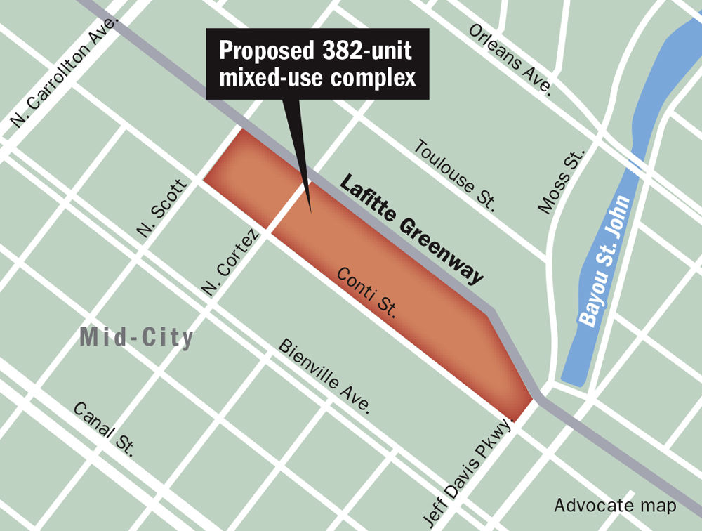 Proposed 382-unit mixed-use complex map _lowres