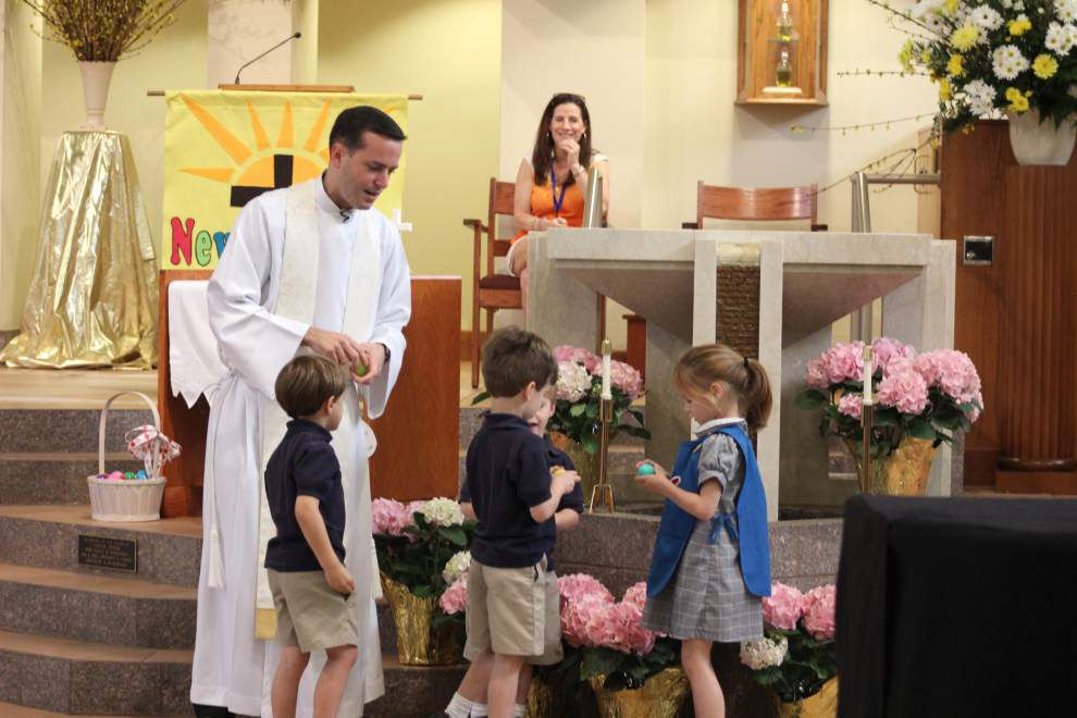 St. Catherine of Siena children learn the meaning of Easter symbols _lowres
