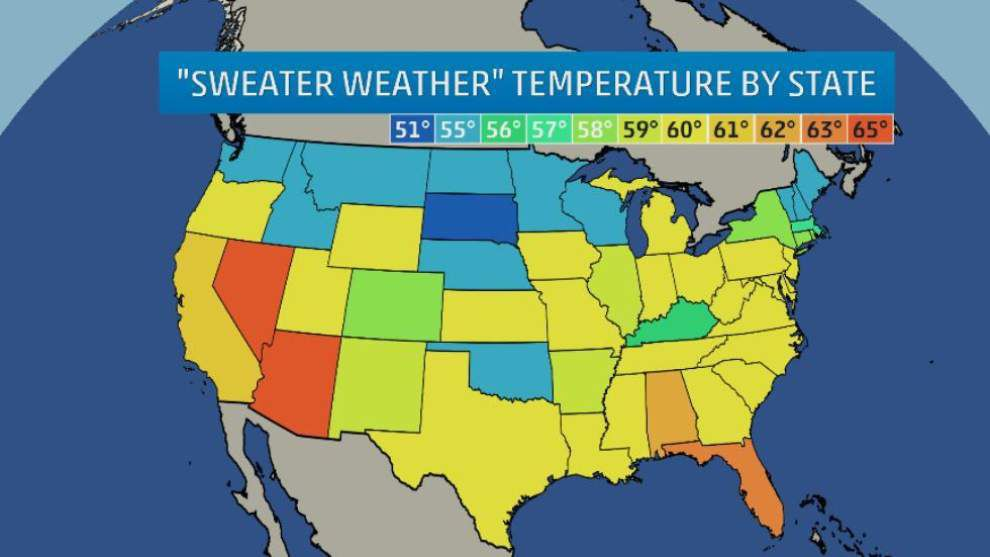 Weather Channel asks: What do you consider sweater — or, if you prefer, gumbo — weather? _lowres