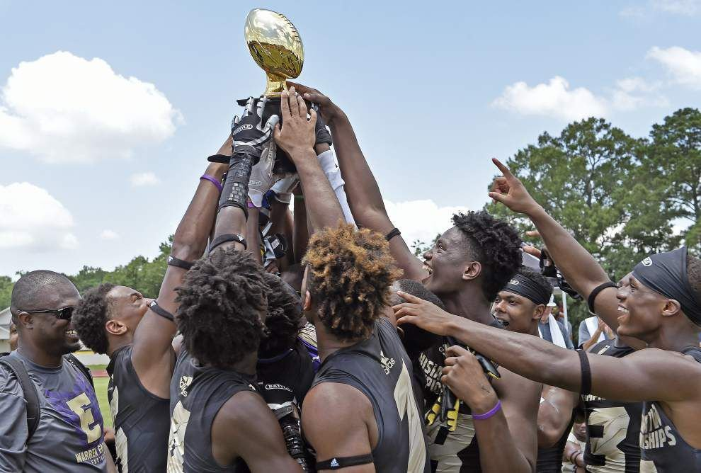 Warren Easton football team wins title at 7-on-7 tournament _lowres