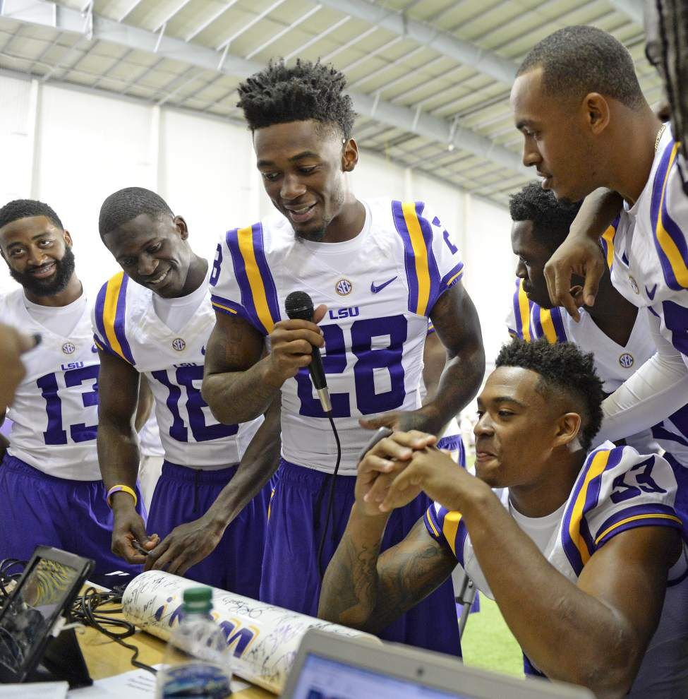 Photos: Media converged on LSU Sunday for Tiger's 2015 Media Day _lowres