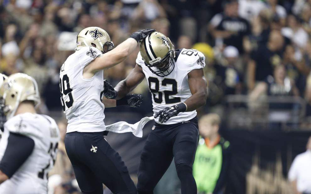Saints tight end Benjamin Watson (groin injury) returns to practice in a limited capacity on Thursday _lowres