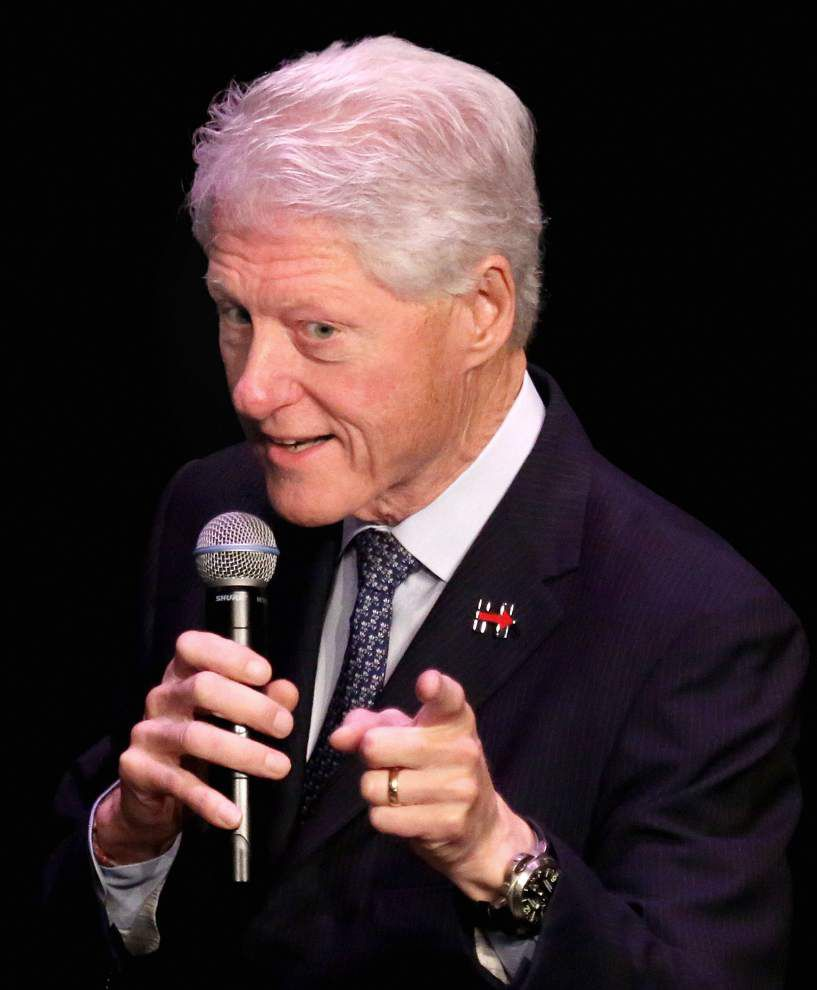 'She's the only person' fit to be president: Bill Clinton stumps for Hillary in New Orleans _lowres