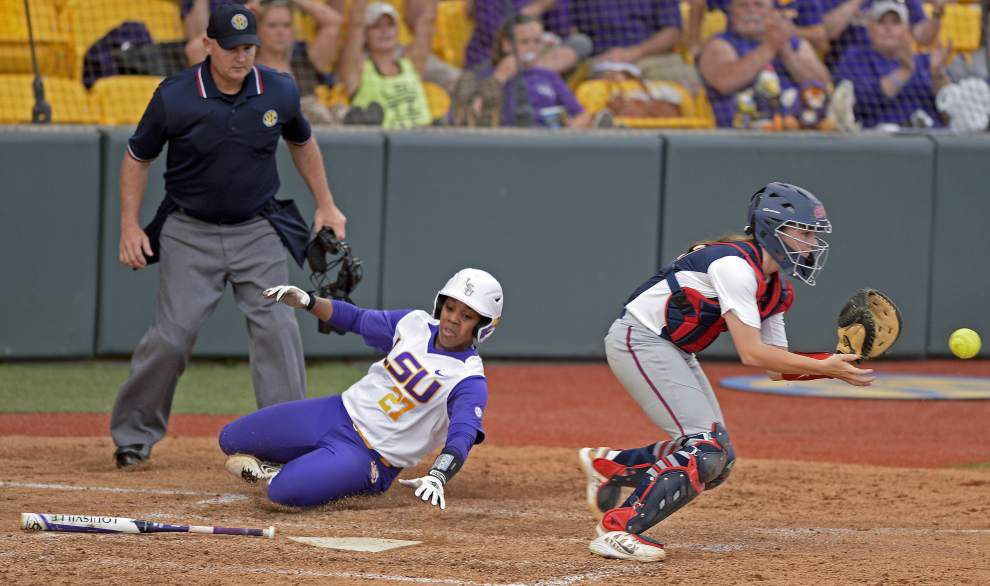 LSU softball team opens series against Ole Miss with a 5-2 win _lowres