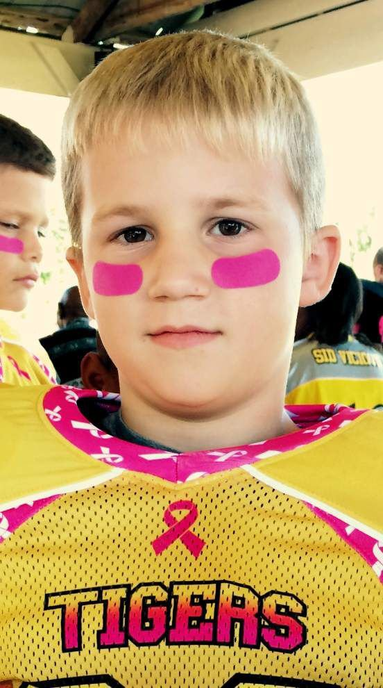 Slidell Youth Football Association joins fight against breast cancer _lowres