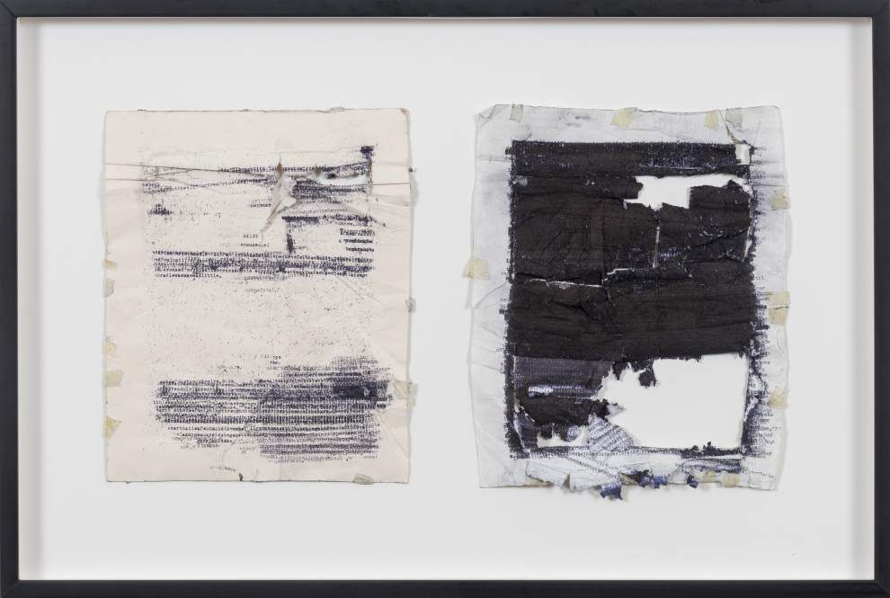 Artist types, retypes novels onto single sheet in homage to the writing process _lowres