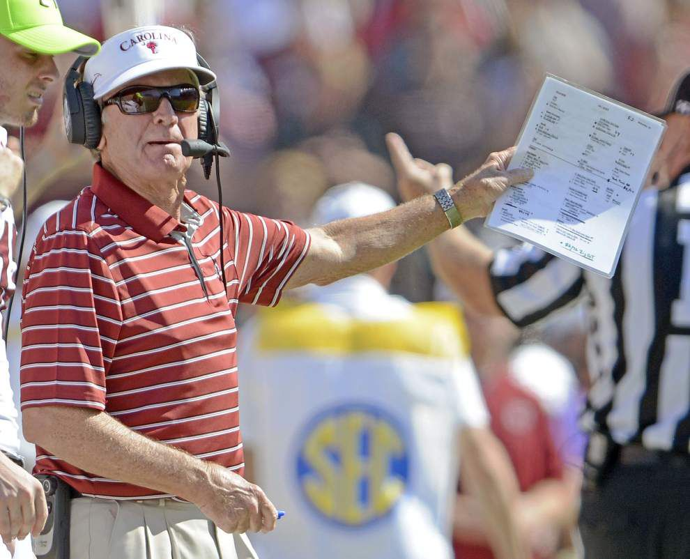 South Carolina coach Steve Spurrier to retire immediately and his last game as coach was at LSU _lowres
