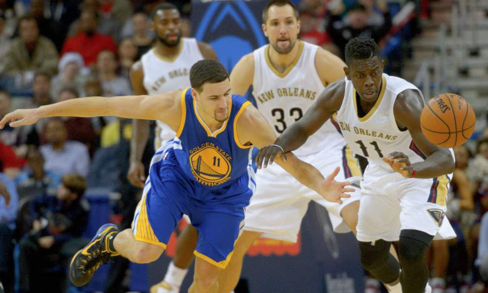 Video: Pelicans guard Jrue Holiday says adjustments were the key for the team in its near win against Golden State _lowres