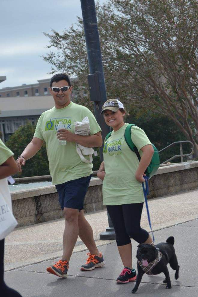 Group holds walk for eating disorder awareness _lowres