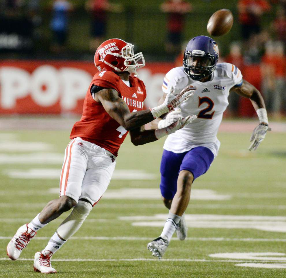 Ragin' Cajuns' passing game does what it needs to against Northwestern State — in a limited dose _lowres