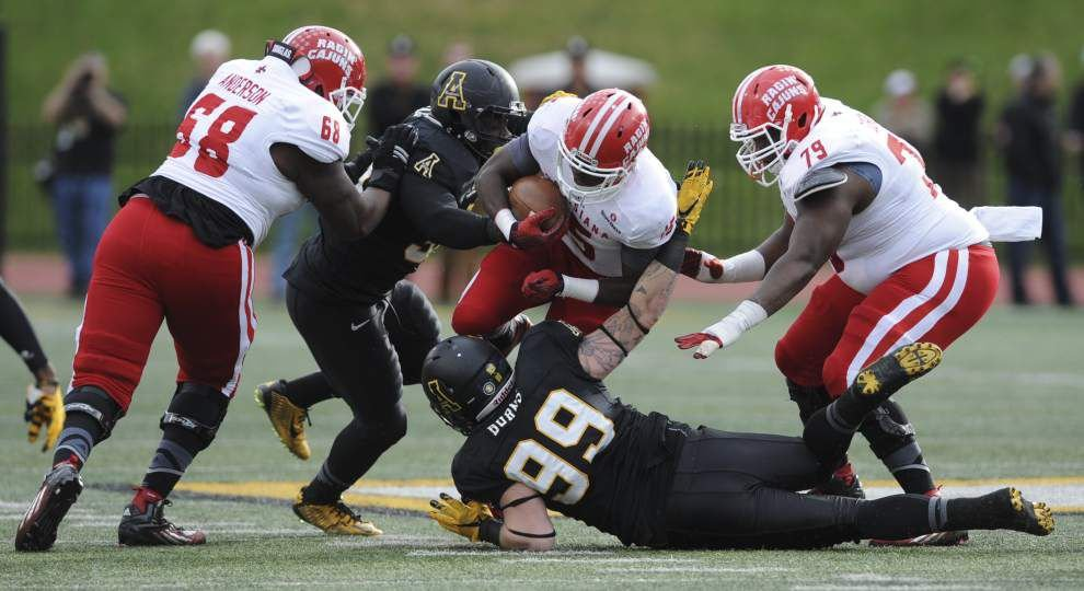 Appalachian State 28, Ragin' Cajuns 7: Luke Johnson's three and out _lowres