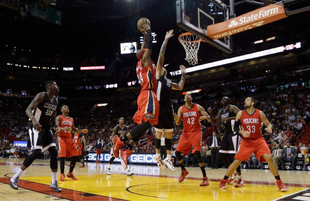 Pelicans lose Anthony Davis, Ryan Anderson to injuries while blowing out the Miami Heat _lowres