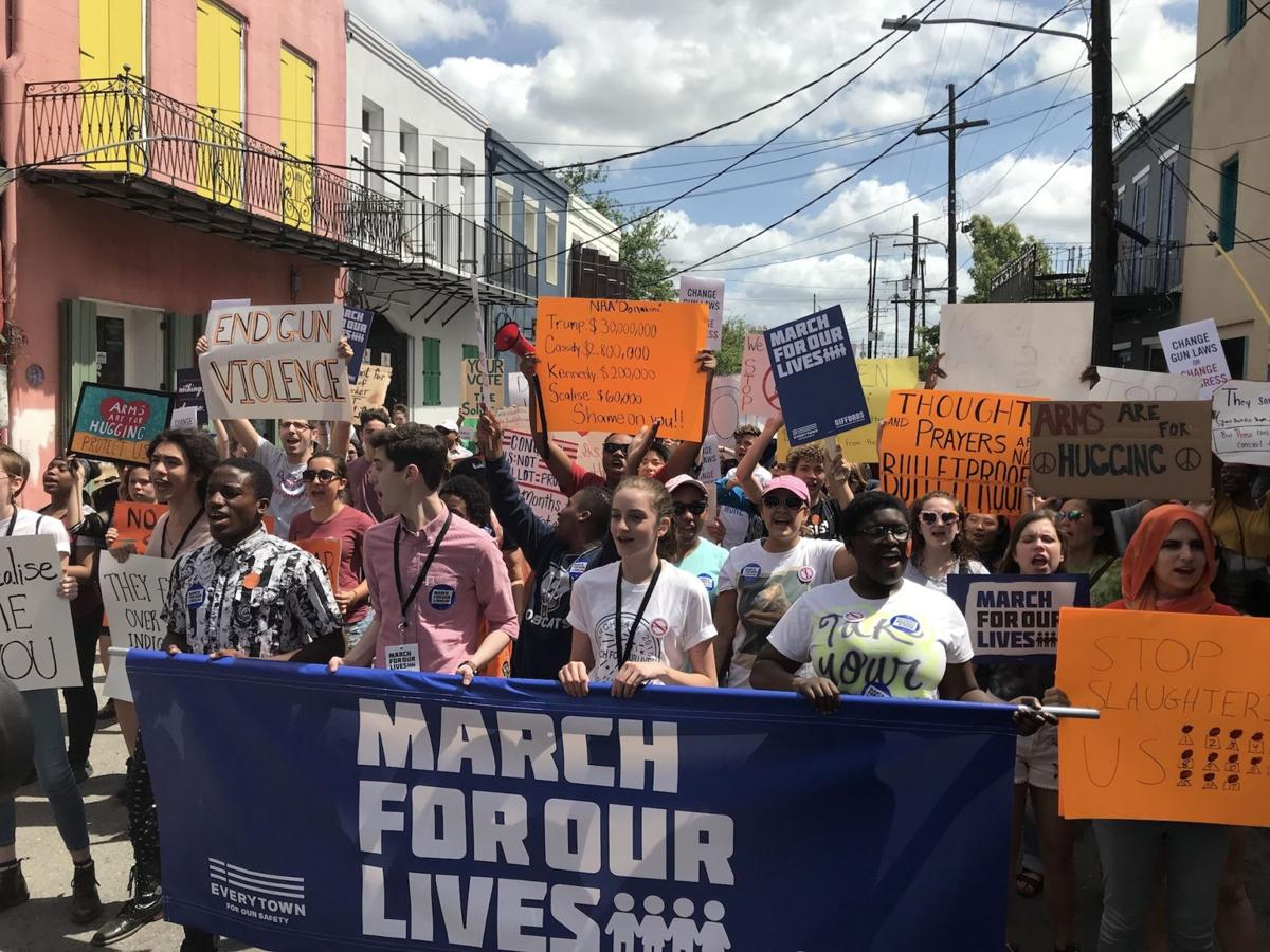 New Orleans students march against gun violence in a March for Our Lives through French Quarter_lowres