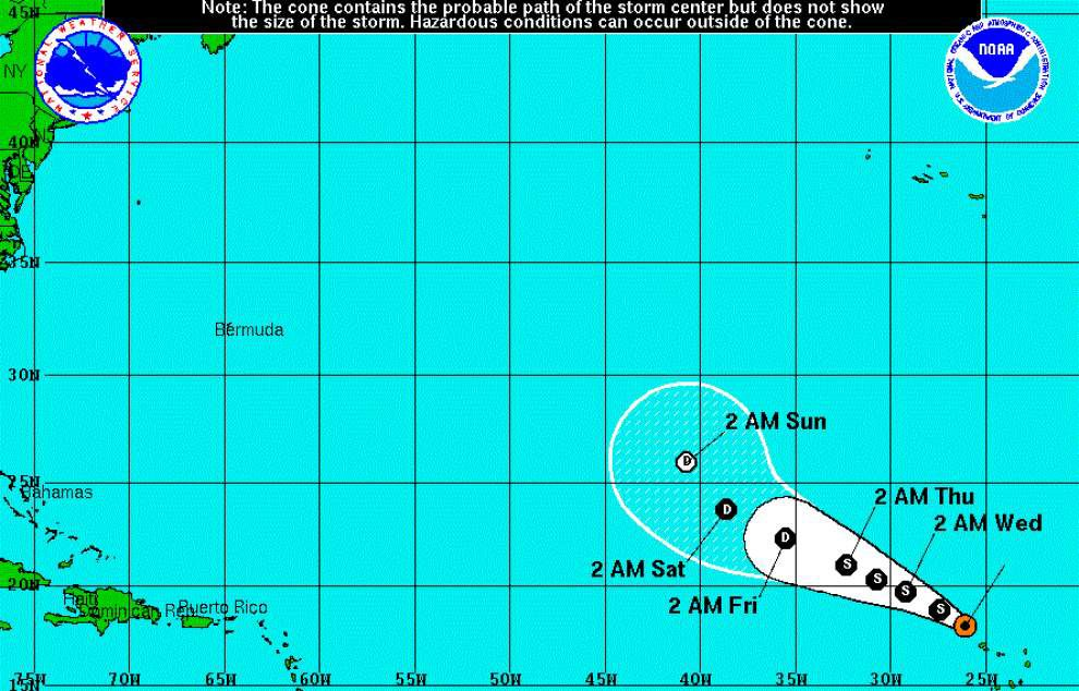 Fred weakens to tropical storm, moves away from Cape Verde Islands _lowres