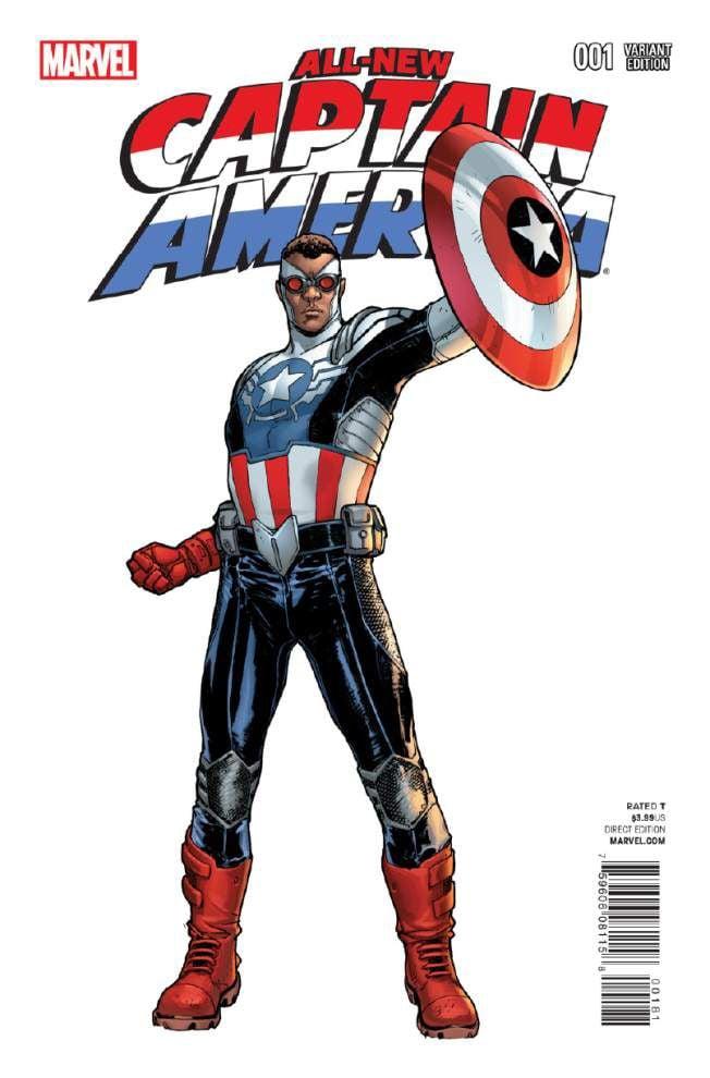 Black Captain America leading comic book diversity _lowres