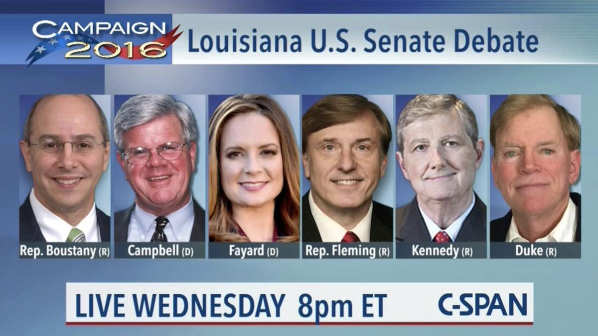 Louisiana Senate debate Nov. 2 to be broadcast nationally by C-SPAN_lowres