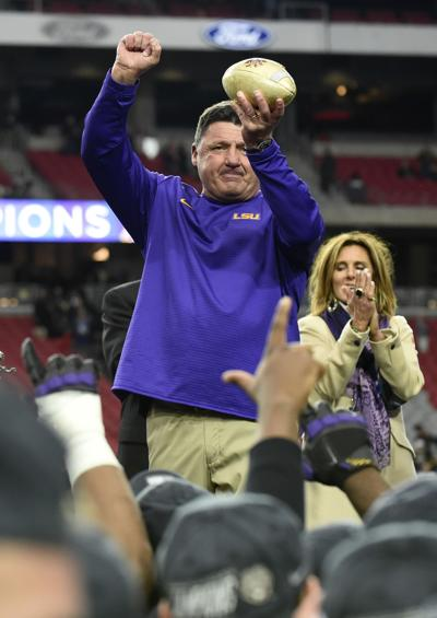 106b24e91 Video  What LSU s Ed Orgeron had to say after Fiesta Bowl victory over UCF