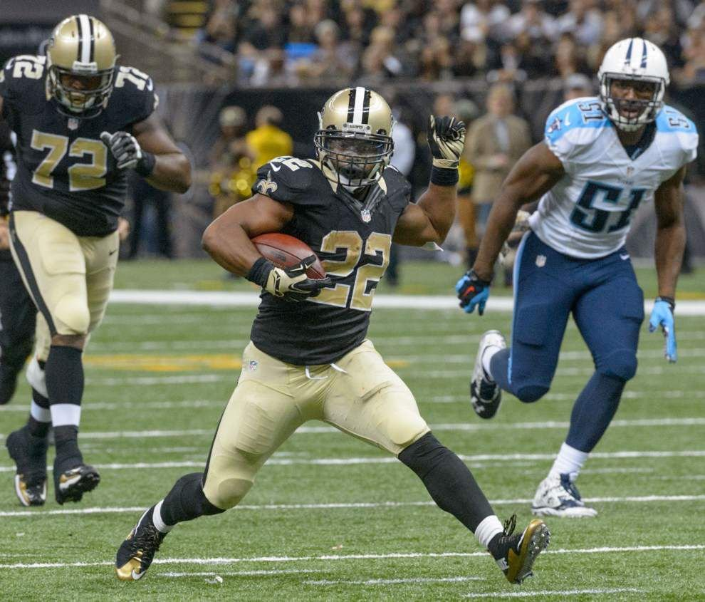 Saints running back Mark Ingram not present at open portion of practice Wednesday _lowres