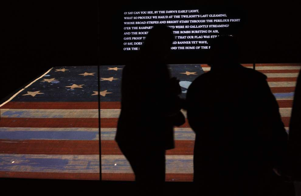 Museum traces fragments of Star-Spangled Banner _lowres
