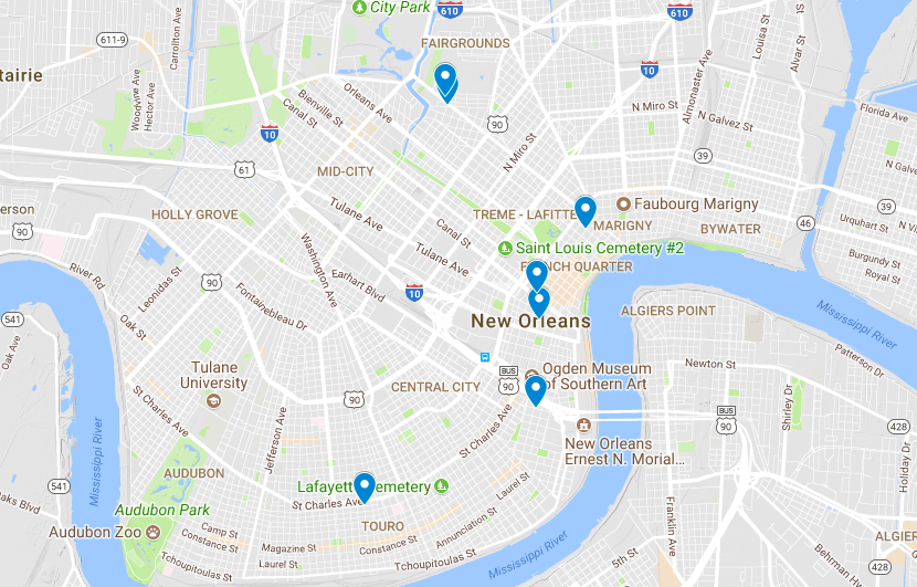 Map From French Quarter To Cbd Several Robberies Reported Across: Map New Orleans Google At Usa Maps