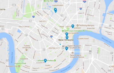 Map From French Quarter To Cbd Several Robberies Reported Across