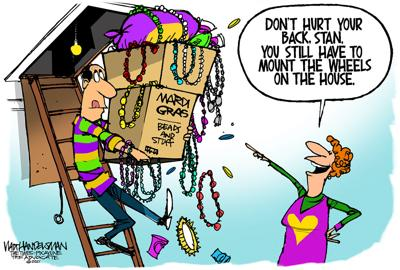 Don't let Covid Carnival get you down. Check out all these hilarious punchlines in Walt Handelsman's Mardi Gras Cartoon Caption Contest!