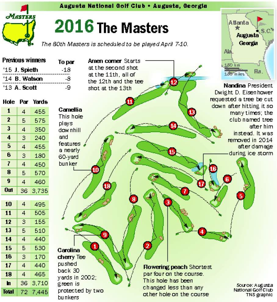 Longer 13th hole may be on the way for Amen Corner _lowres