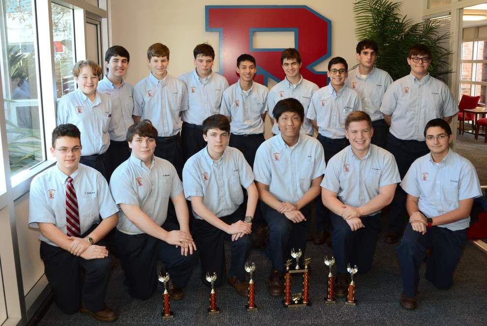Archbishop Rummel High School students tally math awards _lowres