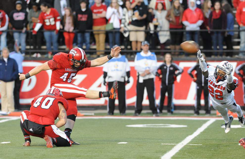 Cajuns notebook: This time, Hunter Stover gets his kicks against South Alabama _lowres
