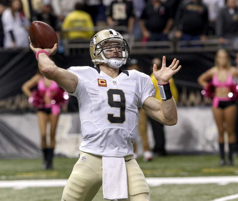 Saints quarterback Drew Brees insists shoulder injury is in the past _lowres