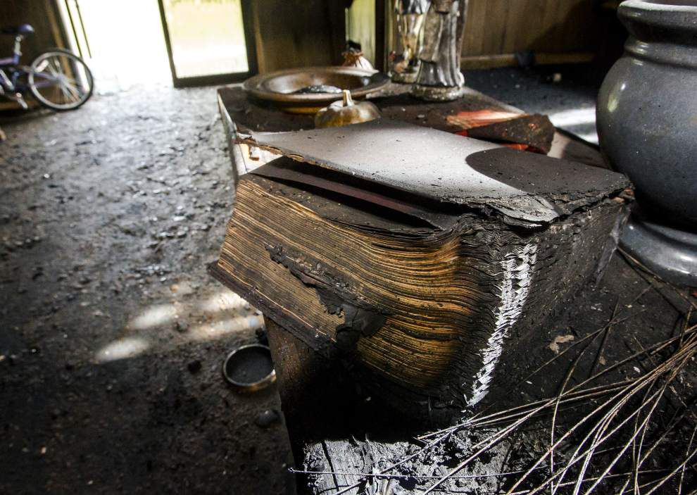Slidell church rebuilt after Katrina is half-destroyed by fire; arson is suspected _lowres