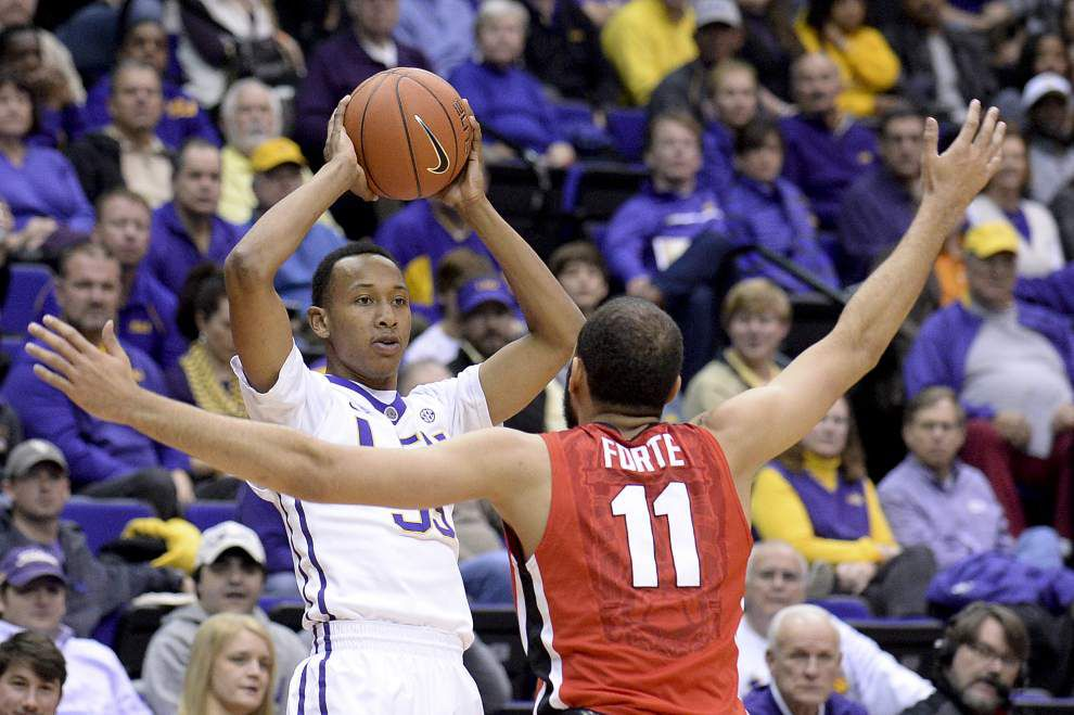 Double overtime goes LSU's way in 87-84 victory over Georgia _lowres