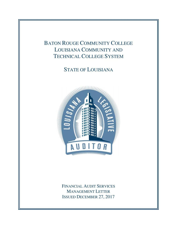 Baton Rouge Community College Audit