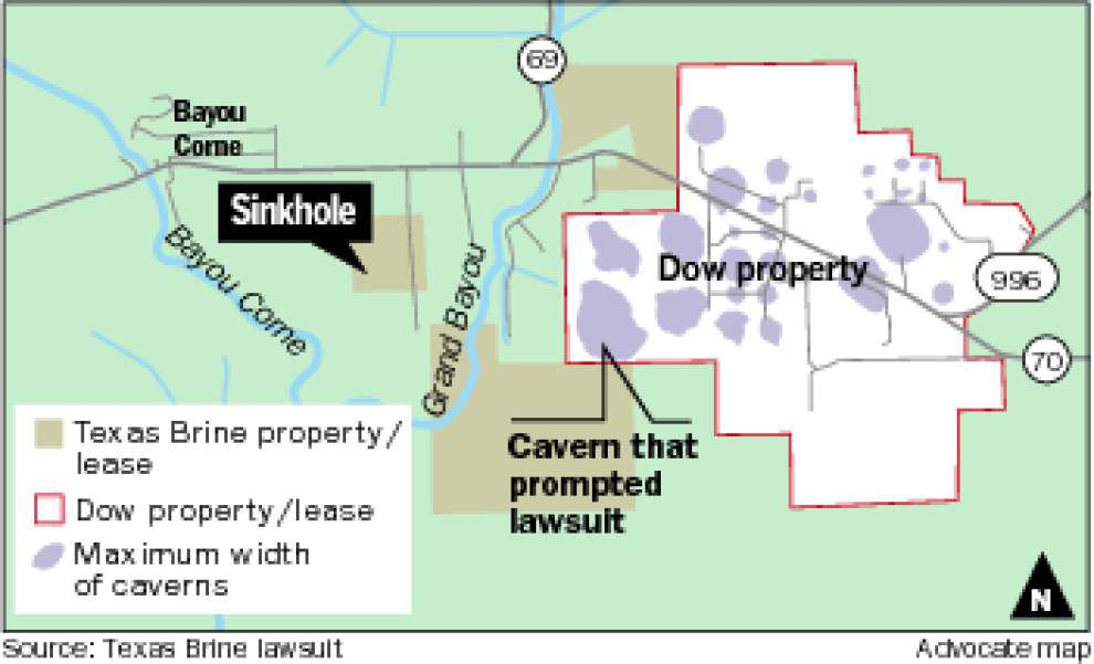 New safety rules since massive sinkhole prevent Texas Brine from expanding salt cavern operation; company files suit against Dow _lowres